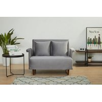 "A&D Home Boston 39.37"" Velvet Convertible Chair, Gray"