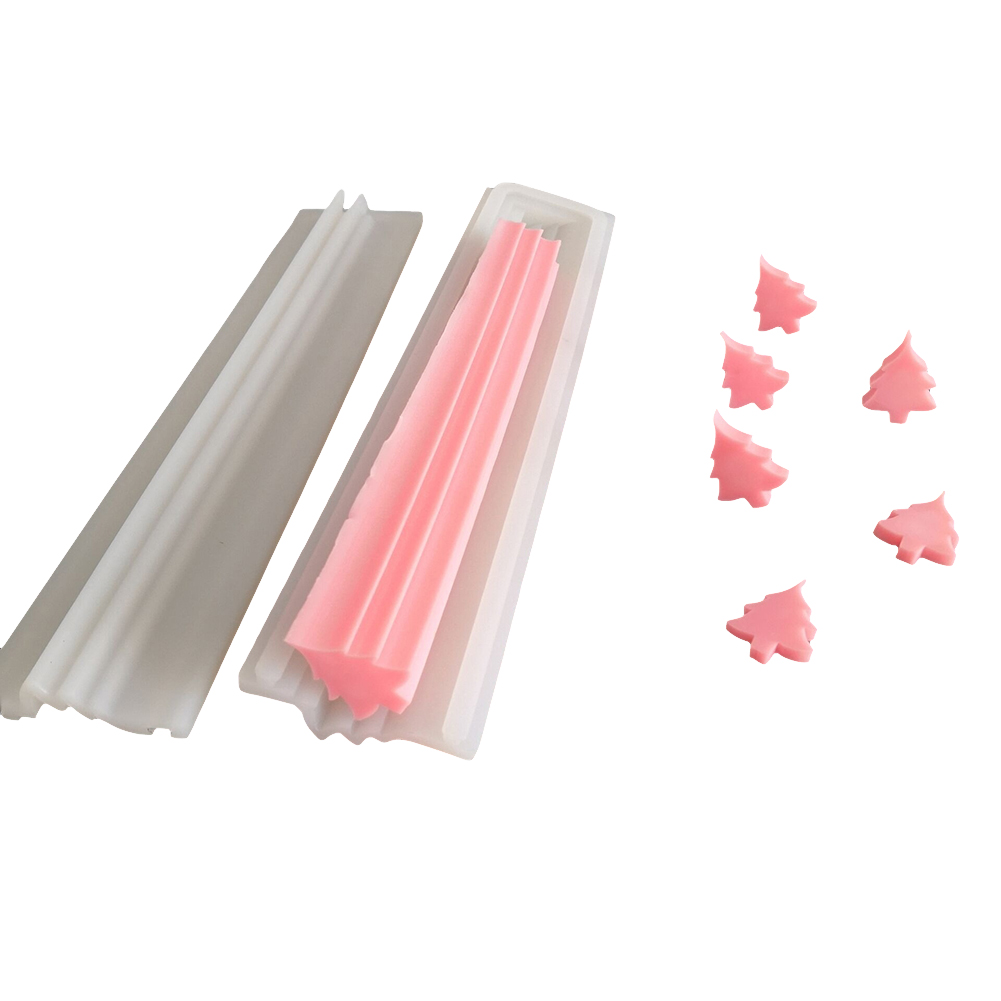 Random Color Round Tube Candle Molds,Christmas Tree Hand Soap Tube Model Silicone Mold Long-Cylinder Cold Process Soap Dye to Make to Make Cakes Soaps Puddings