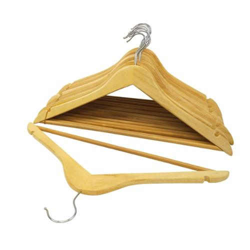 Natural Wood Suit Hangers (Set of 8)