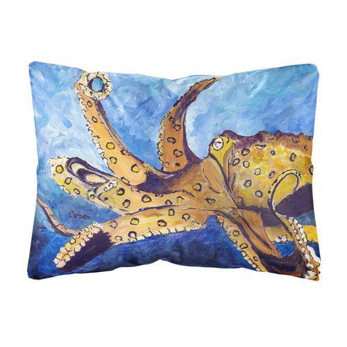 Zoomie Kids Arian Octopus Indoor/Outdoor Throw Pillow