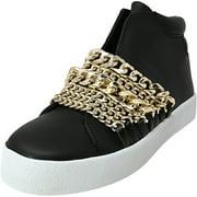Kendall + Kylie Women's Duke Leather Black High-Top Sneaker - 5.5M
