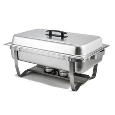 Winco C-4080 Chafer, 8 quart., full size, rectangular, with folding stand