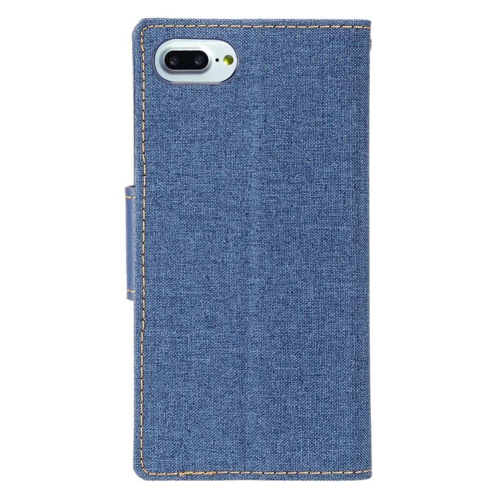 Insten Folio Leather Fabric Stand Card Case w/Photo Display For Apple iPhone 8 / iPhone 7 4.7 inch - Blue - image 1 of 3