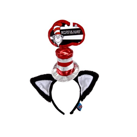 Cat In The Hat Deluxe Headband with Ears Adult Halloween Costume