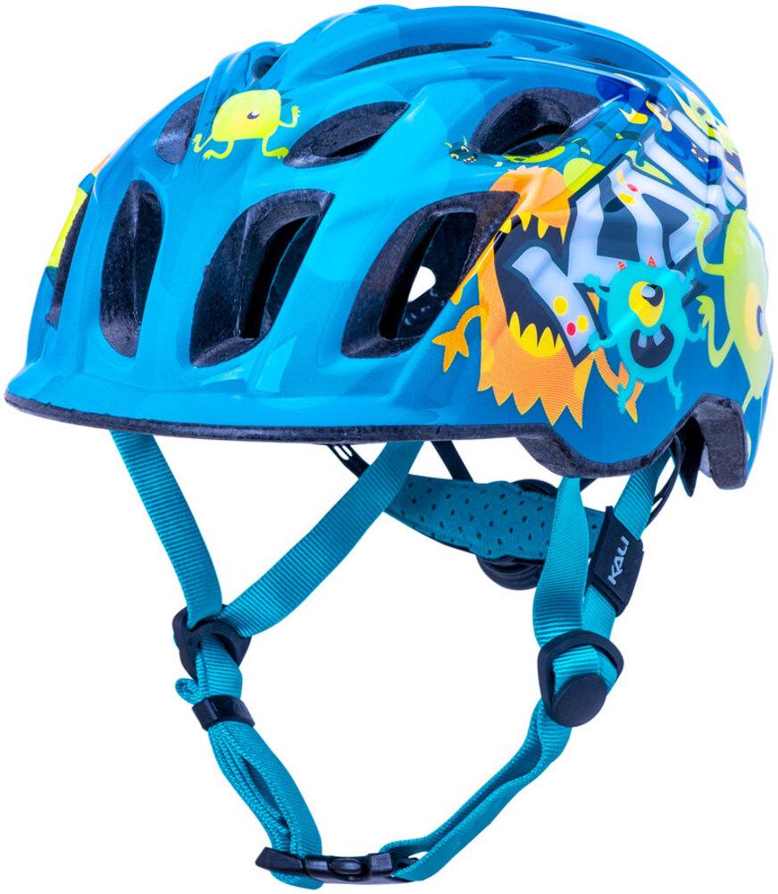 Kali Protectives Chakra Youth Helmet Flora Gloss Blue