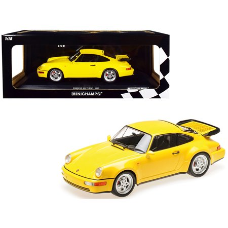 1990 Porsche 911 Turbo Yellow Limited Edition to 600 pieces Worldwide 1/18 Diecast Model Car by