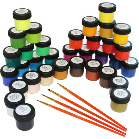 Daler-Rowney Simply Acrylic Paint Set, 40 Piece Assorted Shades & Art