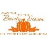 - Do It Yourself Wall Decal Sticker Thanksgiving (May The Bounty Be.....) Living Room