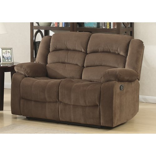 AC Pacific Bill Brown Contemporary Living Room Reclining Love Seat
