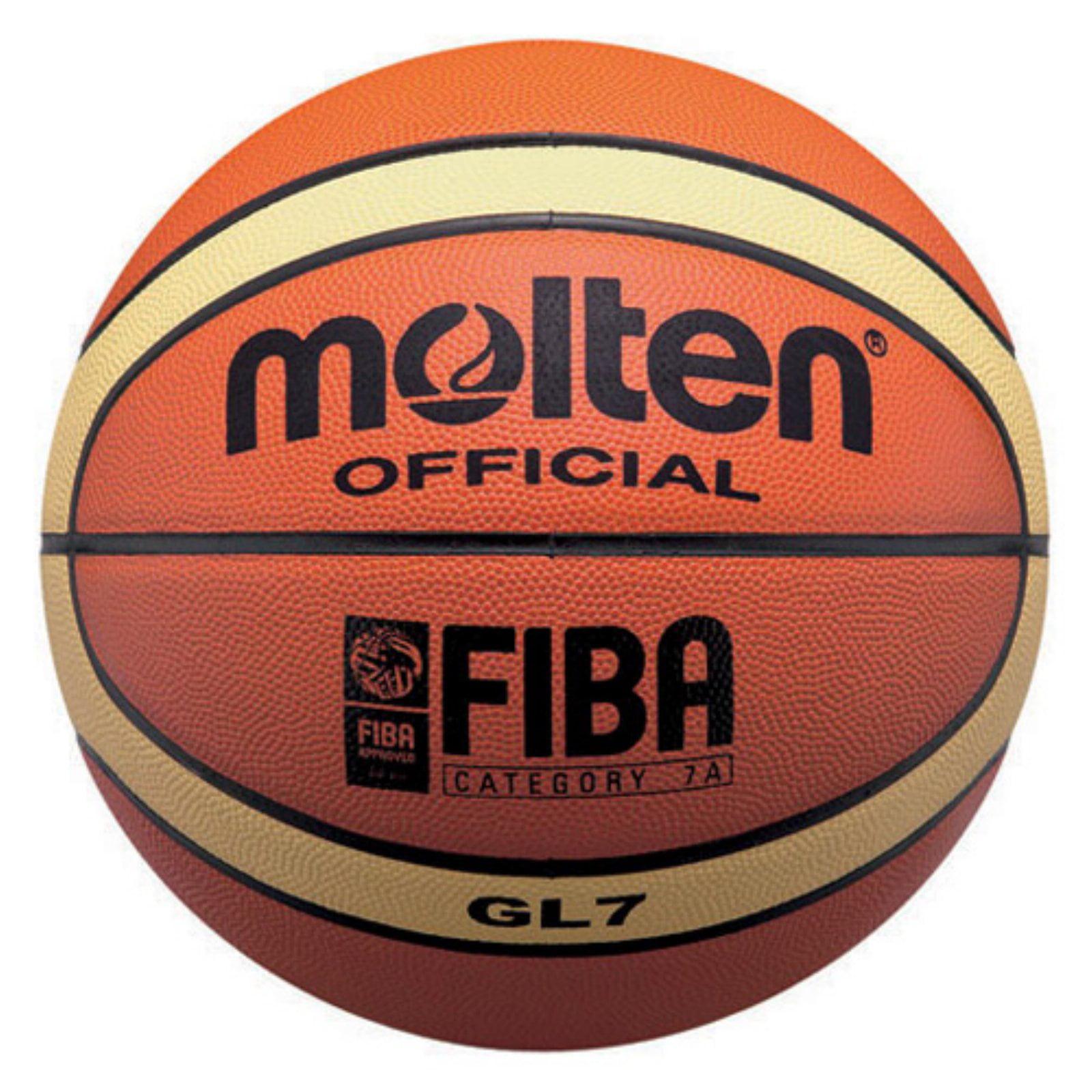 Molten FIBA Approved Top Grain Leather Basketball by Molten USA