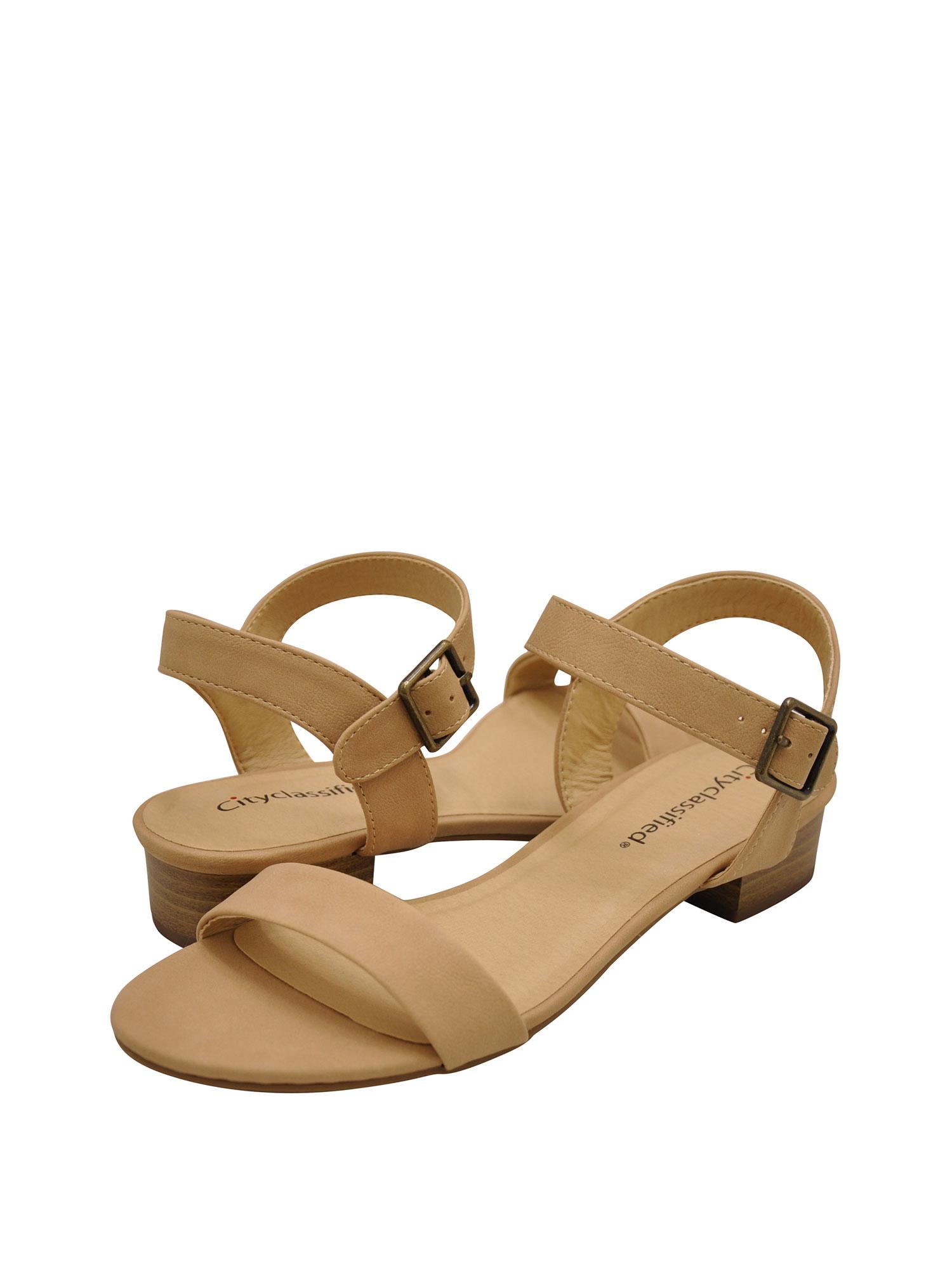 Open Toe Short Heel Sandals - Walmart