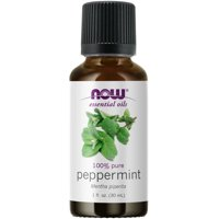 NOW Essential Oils, Peppermint Oil, Invigorating Aromatherapy Scent, Steam Distilled, 100% Pure, Vegan, Child Resistant Cap, 1-Ounce