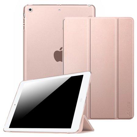 Etui Fintie pour iPad mini 3 / iPad mini 2 / iPad mini - Coque transparente translucide givrée, Or rose - image 7 de 7