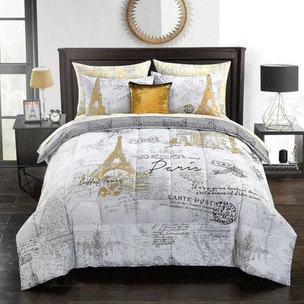Mainstays Voyager En Paris Bed In A Bag, Twin XL   Walmart.