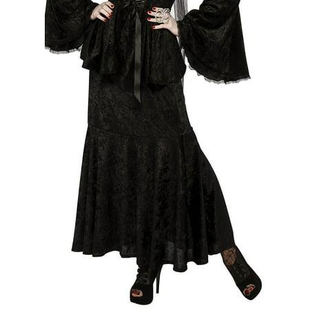 Black Adult Women Velvet Mermaid Cut Witches Gothic Costume Skirt for $<!---->