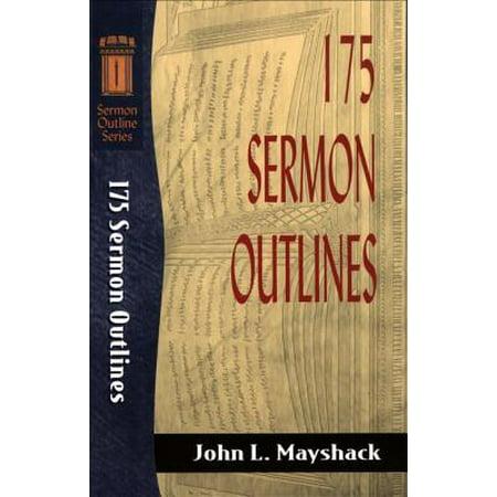 175 Sermon Outlines (Sermon Outline Series) - eBook