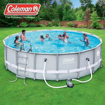 coleman 16 39 x 48 power steel frame above ground swimming pool set
