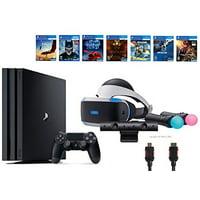 PlayStation VR Starter Bundle, 10 Items: PS4 Pro 1TB