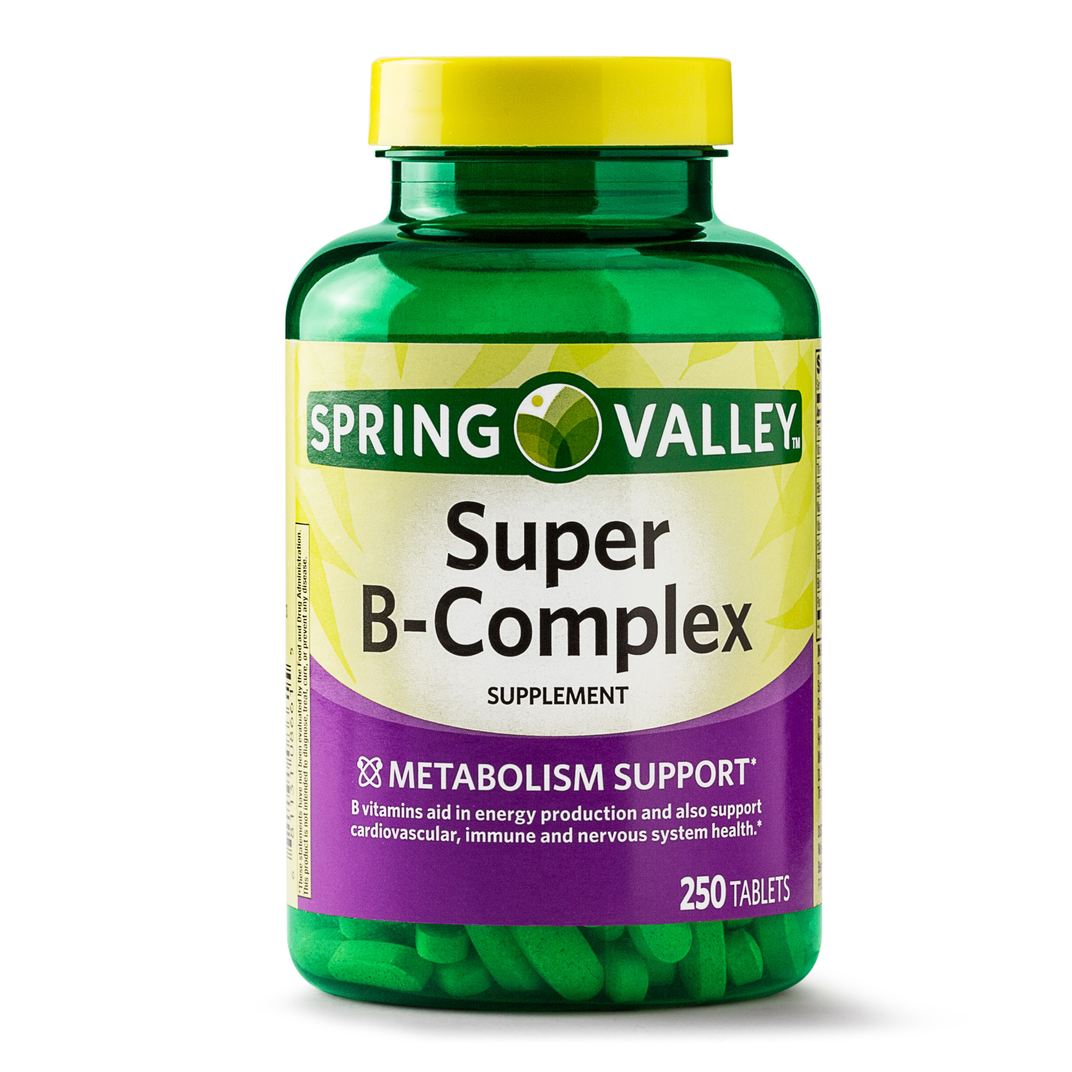 Spring Valley Super B-Complex Tablets, 250 Ct