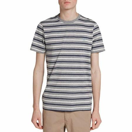 Fred Perry Men Tees (Fred Perry Men's Brenton Stripe T-Shirt, Steel Marl,)