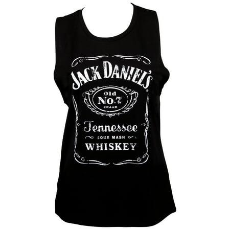 Jack Daniels Classic Logo Women's Black Muscle Tank -