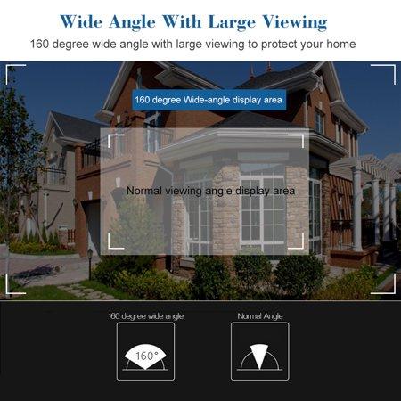 "KKmoon 2.4"" LCD Digital Peephole Viewer 160° Door Eye Doorbell HD IR Camera Night Vision Photo Taking/Video Recording TF Card for Home - image 2 de 7"