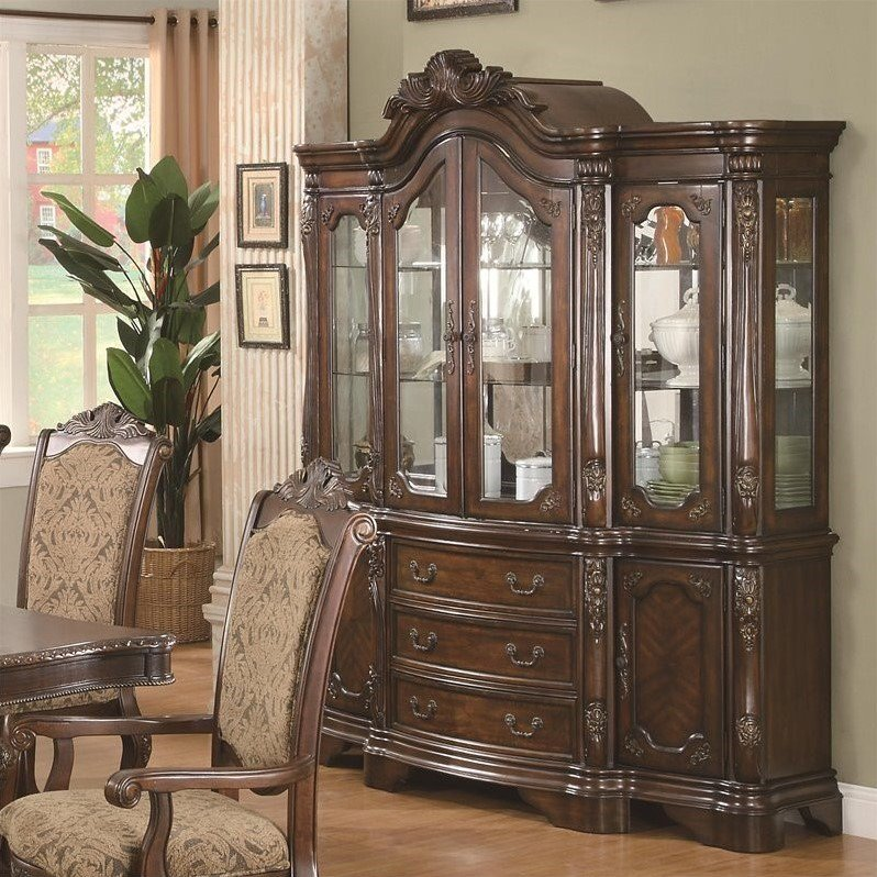 Coaster Andrea China Cabinet in Warm Brown by Coaster