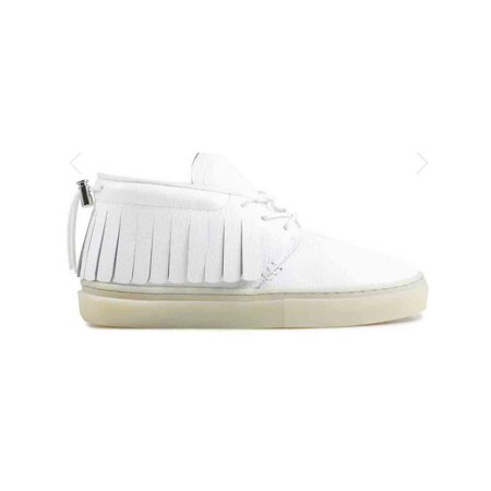 101 Leather - Clear Weather One-O-One Midtop Sneaker White Leather Ice CRW-101-WHI