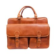 Canyon Outback Sunset Voyager 17-inch Full Hide Leather Laptop Computer Briefcase Tan