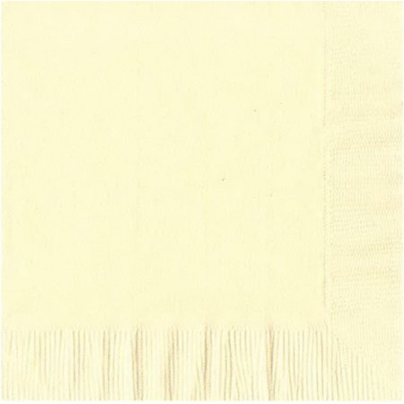 50 Plain Solid Colors Luncheon Dinner Napkins Paper - Ivory