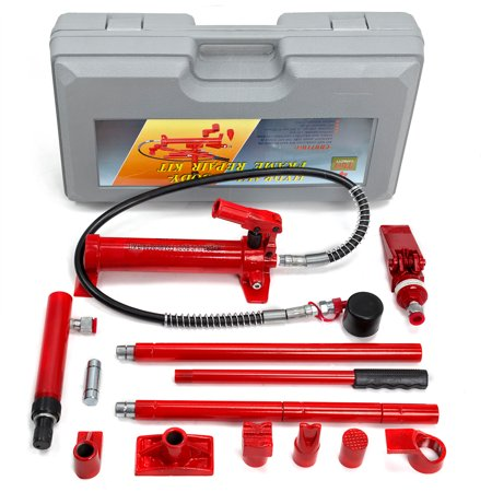 XtremepowerUS 4-Ton Porta Power Hydraulic Jack Body Frame Repair Auto Shop Set w/ Case ()