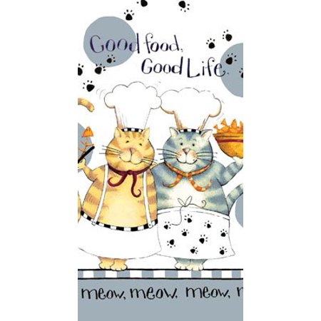 Kayo Designs - Kay Dee Designs R2630 Happy Cat Good Life Terry Towel