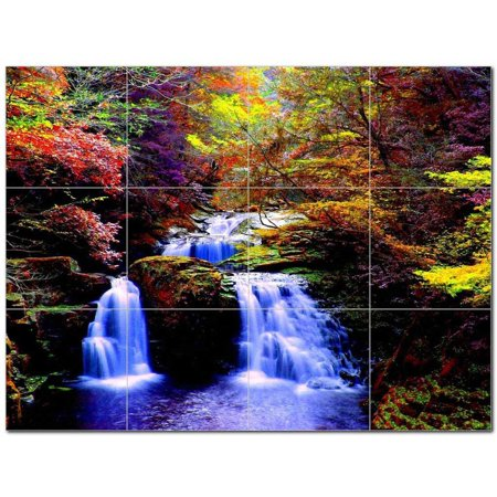 Waterfalls Ceramic Tile Mural Kitchen Backsplash Bathroom Shower 40180