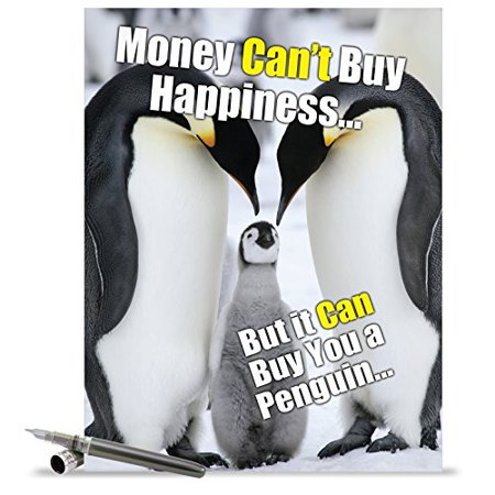 J1469 Jumbo Funny Birthday Greeting Card Buy A Penguin With