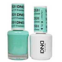 DND Nail Polish Gel & Matching Lacquer Set (531 - Fountain Green)