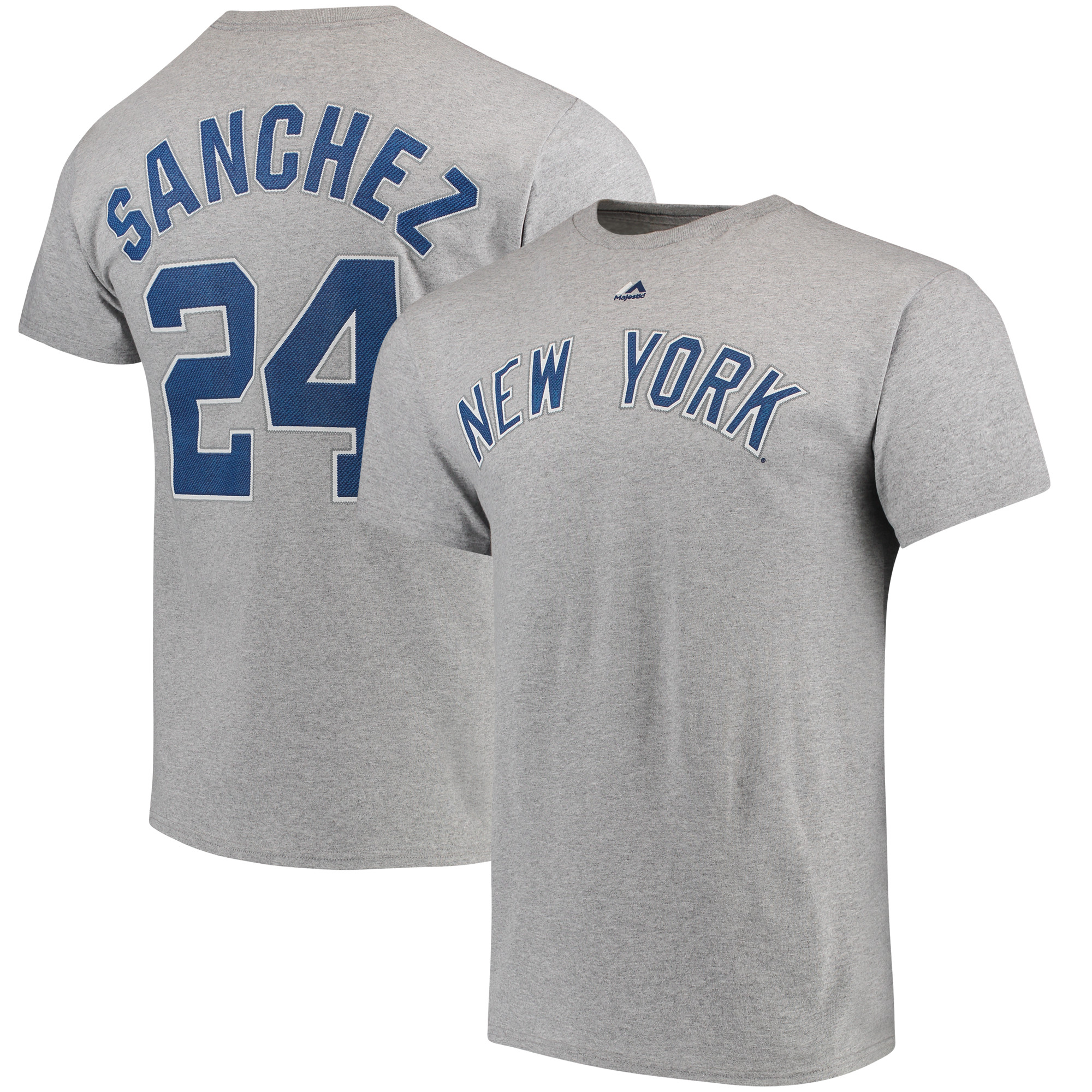 Gary Sanchez New York Yankees Majestic Official Name & Number T-Shirt - Gray