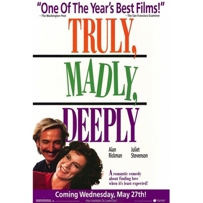 Posterazzi MOVCF2435 Truly Madly Deeply Movie Poster - 27 x 40 in. - image 1 of 1