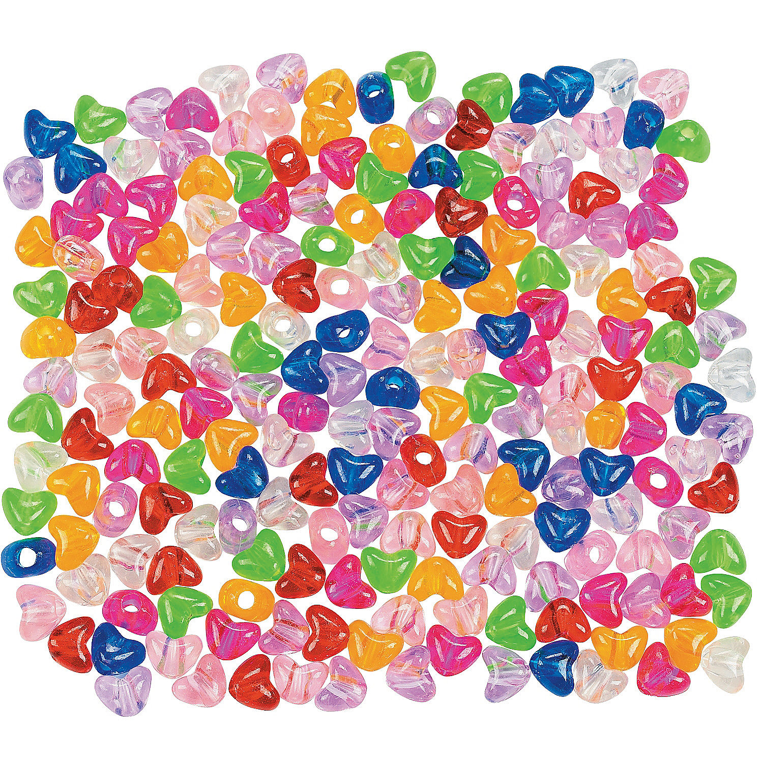IN-57/71 Heart Shaped Pony Beads 600 Piece(s)
