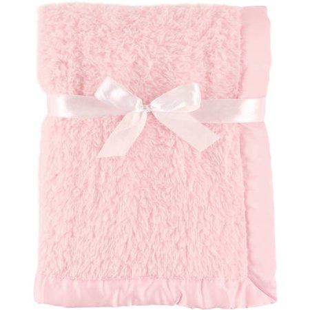 Hudson Baby Boy and Girl Sherpa Blanket with Satin Binding