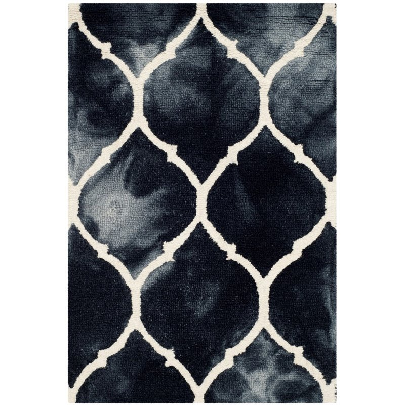 Safavieh Dip Dye 8' X 10' Hand Tufted Rug in Graphite and Ivory - image 10 of 10