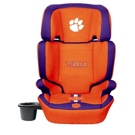 NCAA High Back Booster Seat by Lil Fan, 2-in-1 - Clemson Tigers