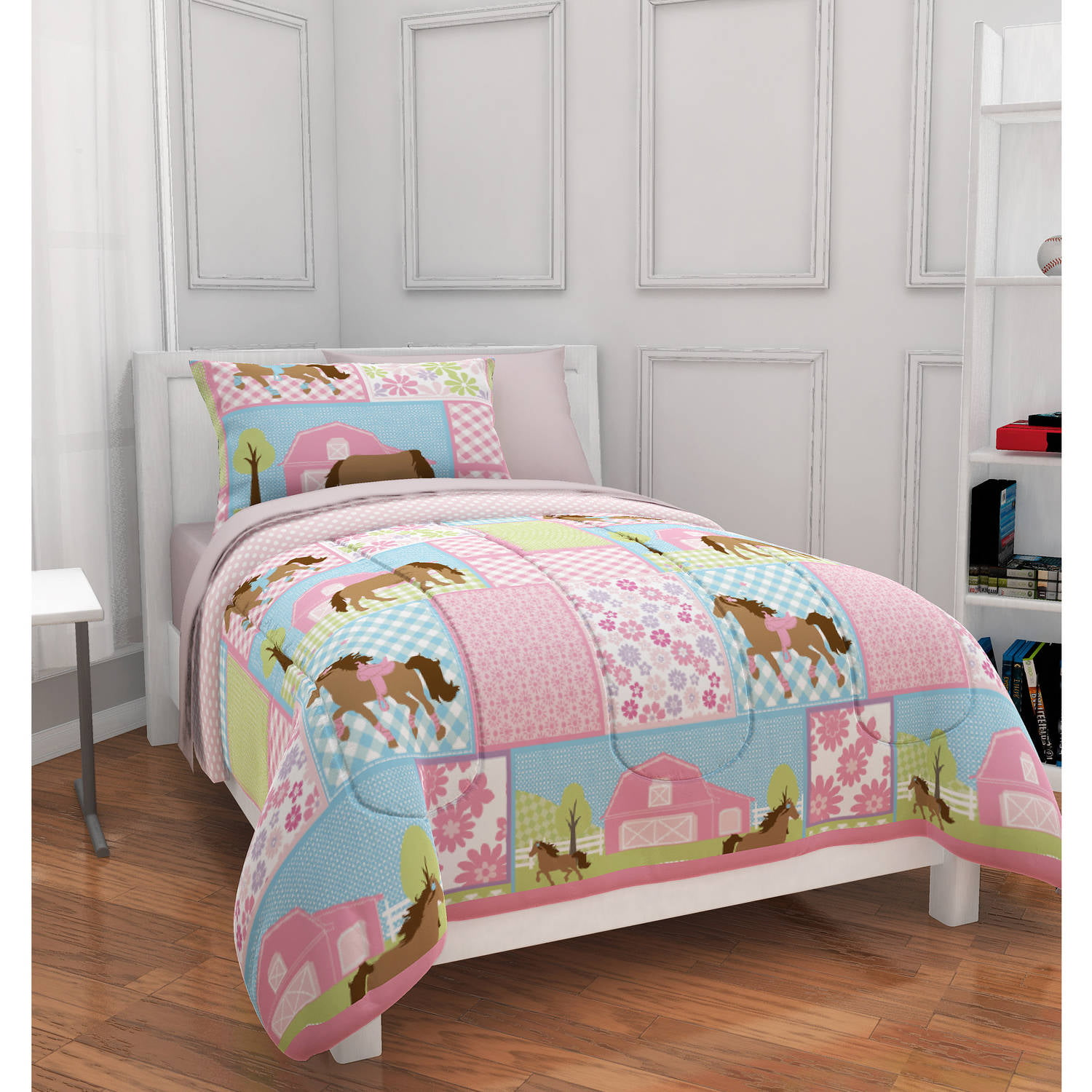 mainstays kids country meadows bed in a bag bedding set bedding sets twin kids