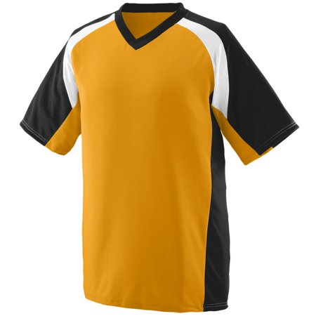 1535 Athletic Wear Jersey Wicking Polyester V-Neck Short-Sleeve with Inserts Men's