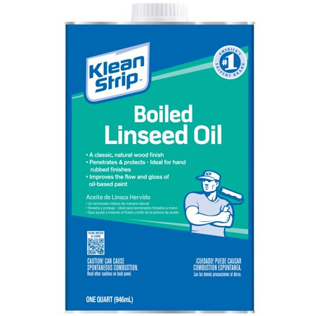- Klean-Strip Boiled Linseed Oil, 1 qt