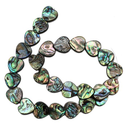 (16mm Mother Of Pearl Heart Bead Strand (26 Piece))