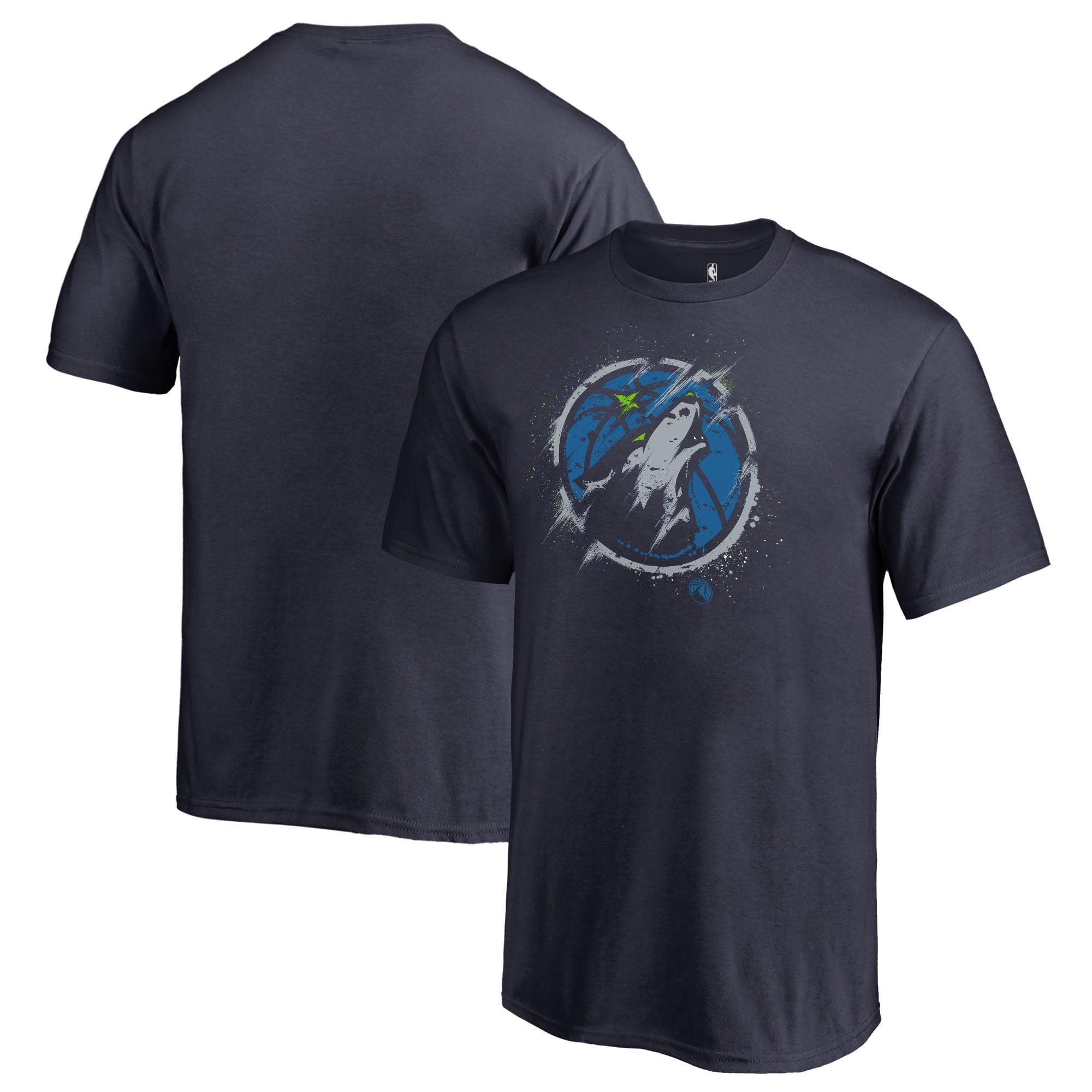Minnesota Timberwolves Fanatics Branded Youth Splatter Logo T-Shirt - Navy