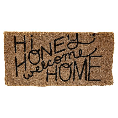 Creative Co Op Honey And Gray Quot Hi Honey Welcome Home