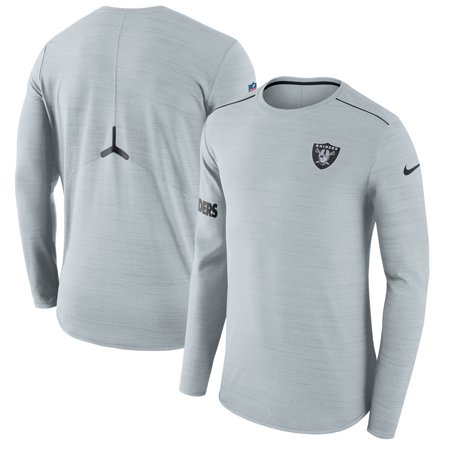 Oakland Raiders Nike Sideline Player Long Sleeve Performance T-Shirt - Gray