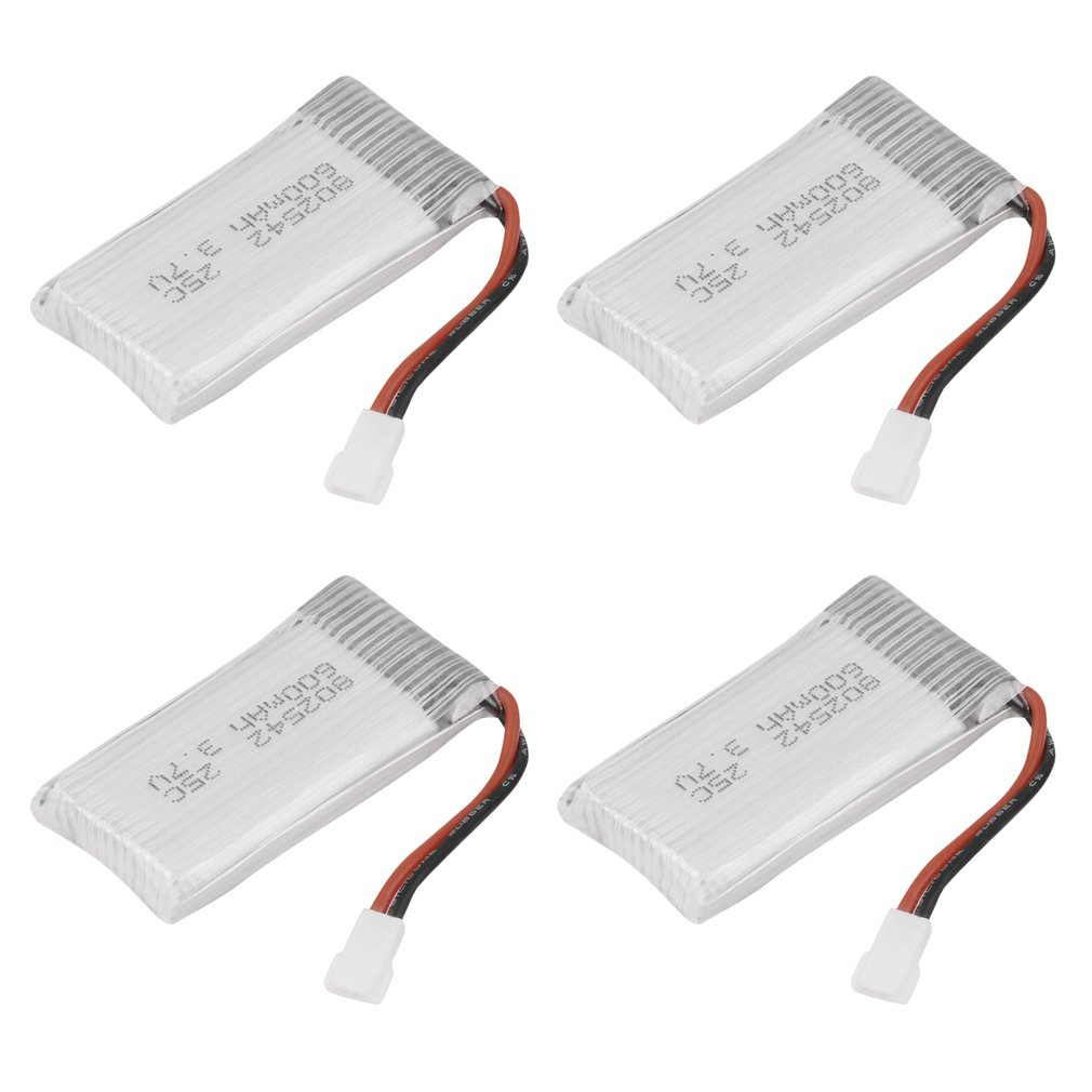 【Clearance sale】4 Sets 3.7V 600mAh Lipo Battery For X5C X5SW Remote Control Quadcopter Drone​