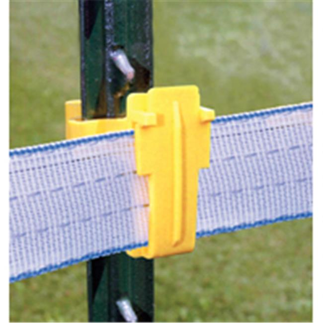 Fi-Shock ITTY-FS Insulator Tpost Tape Fastens, Yellow